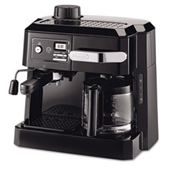 DeLONGHI BCO320T Combination Coffee/Espresso Machine, Black/Silver