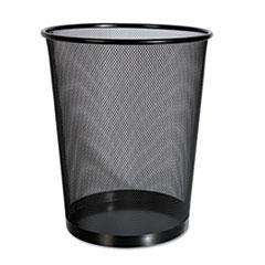 Universal® Mesh Wastebasket, 18 qt, Black
