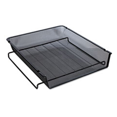 """Universal® Deluxe Mesh Stackable Front Load Tray, 1 Section, Letter Size Files, 11.25"""" x 13"""" x 2.75"""", Black"""