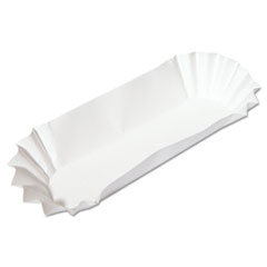 Hoffmaster® Fluted Hot Dog Trays, 6w x 2d x 2h, White, 500/Sleeve, 6 Sleeves/Carton