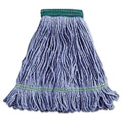 "Boardwalk® Super Loop Wet Mop Head, Cotton/Synthetic Fiber, 5"" Headband, Medium Size, Blue"