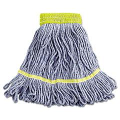 "Boardwalk® Super Loop Wet Mop Head, Cotton/Synthetic Fiber, 5"" Headband, Small Size, Blue, 12/Carton"