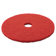 "3M™ Low-Speed Buffer Floor Pads 5100, 20"" Diameter, Red, 5/Carton"