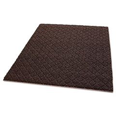 Crown Unbacked Diamond-Deluxe Duet Vinyl-Loop Floor Mat, Vinyl, 48 x 72, Brown/Caramel CWNDXHC46BC