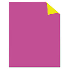 Royal Brites Two Cool Poster Board, 22 x 28, Fluorescent Pink/Canary, 25/PK