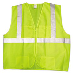Jackson* Safety Brand ANSI Class 2 Deluxe Style Vests, Lime/Silver, X-Large/2X-Large ASC22838