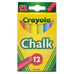 Crayola® Chalk, 6 Assorted Colors, 12 Sticks/Box