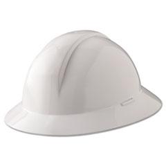 North Safety® A-Safe Everest Hard Hat, White, Full Brim, Slotted