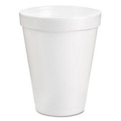 Dart® Foam Drink Cups, 8oz, White, 25/Pack