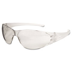 MCR™ Safety Checkmate Safety Glasses, Clear Temple, Clear Lens, Anti Fog