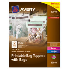 Avery® Printable Bag Toppers with Bags Thumbnail