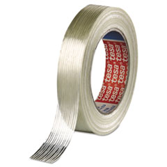 """tesa® Economy Grade Filament Strapping Tape, 3/4"""" x 60yd, Clear"""