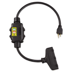 In Line GFCI Interrupter, 2 Foot Cable, 12/3 AWG, 15A, 125V