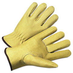 Anchor Brand® 4000 Series Pigskin Leather Driver Gloves, Beige, X-Large, 12 Pairs