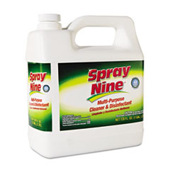 Spray Nine® Heavy Duty Cleaner/Degreaser/Disinfectant, Citrus Scent, 1 gal Bottle, 4/Carton