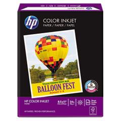 HP Color Inkjet Paper, 97 Brightness, 24lb, 8-1/2 x 11, White, 500 Sheets/Ream