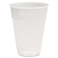Boardwalk® Translucent Plastic Cold Cups, 7 oz, Polypropylene, 25 Cups/Sleeve, 100 Sleeves/Carton