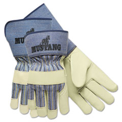 MCR™ Safety Mustang Premium Grain-Leather-Palm Gloves, 4 1/2 in. Long, Medium