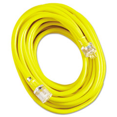 CCI® Vinyl Extension Cord, SJTW-A, 50ft Long, 10/3 AWG, Yellow COC02688