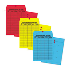 Quality Park™ Colored Paper String & Button Interoffice Envelope
