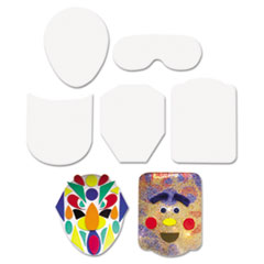 "Peel & Stick Faces Decoration Boards, 5"", 12 Pieces"