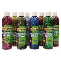 Creativity Street® Glitter Glue Chip Class Pack, Assorted Colors, 8 oz Bottles, 8/Pack