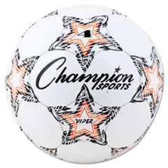 "Champion Sports VIPER Soccer Ball, Size 4, 8""- 8 1/4"" dia., White"