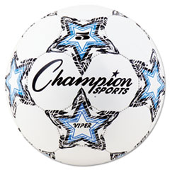 "Champion Sports VIPER Soccer Ball, Size 5, 8 1/2""- 9"" dia., White"