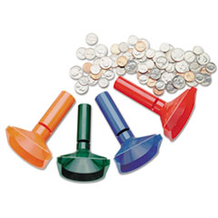 SteelMaster® Color-Coded Coin Counting Tubes f/Pennies Through Quarters