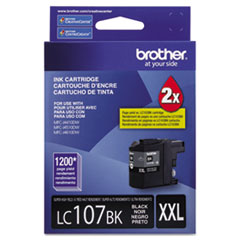 Brother LC107BK Innobella Super High-Yield Ink, 1,200 Page-Yield, Black