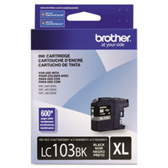 Brother LC103BK Innobella High-Yield Ink, 600 Page-Yield, Black