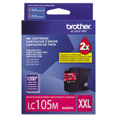 Brother LC105M Innobella Super High-Yield Ink, 1,200 Page-Yield, Magenta