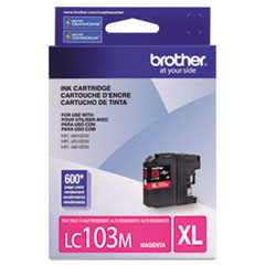 Brother LC103M Innobella High-Yield Ink, 600 Page-Yield, Magenta