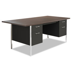 Alera® Double Pedestal Steel Desk
