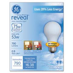 GE Reveal A19 Light Bulb, 53 W, 2/Pack