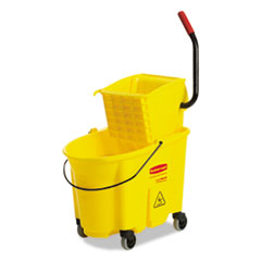 Rubbermaid® Commercial Mopping Bucket and Wringer Combo Pack, Yellow