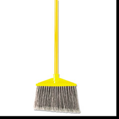 Rubbermaid® Commercial Brute Angle Broom, Flagged, Gray, w/Handle