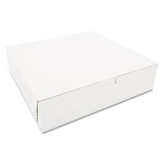 SCT® Tuck-Top Bakery Boxes, 10 x 10 x 2.5, White, 250/Carton