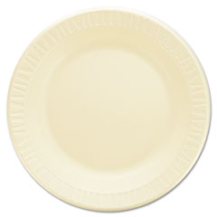 "Laminated Foam Dinnerware, Plates, 10 1/4"", Honey,"