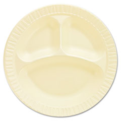 "Laminated Foam Dinnerware, Plates, 10 1/4"", Honey, 3"