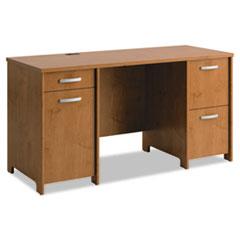 Bush® Envoy Collection Double Pedestal Desk