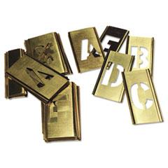 C.H. Hanson® 33-Piece Single-Letter Brass Stencil Set