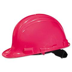 North Safety® A-Safe Peak Hard Hat, Hot Pink, 4-Point Suspension