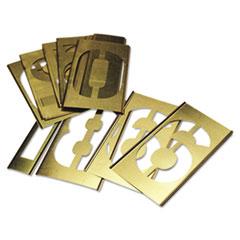C.H. Hanson® 15-Piece Single-Number Brass Stencil Set