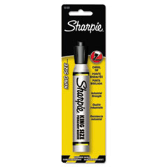 Sharpie® King Size Permanent Marker 15101PP, Broad Chisel Tip, Black, 6/Box