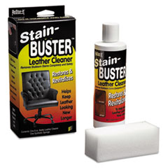 """Master Caster® ReStor-It Stain-Buster Leather Cleaner, 8 oz Bottle, 2"""" x 6 3/4"""" Pad"""