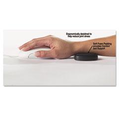 ComfortMakers® Rolling Wrist Rest, 5 x 2 1/2 x 5/8, Black