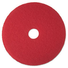 "3M™ Low-Speed Buffer Floor Pads 5100, 15"" Diameter, Red, 5/Carton"