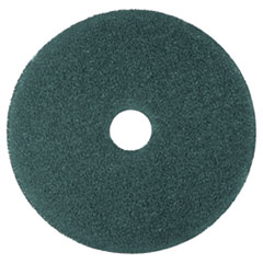 "3M™ Cleaner Floor Pad 5300, 17"" Diameter, Blue, 5/Carton"