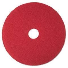 "3M™ Low-Speed Buffer Floor Pads 5100, 16"" Diameter, Red, 5/Carton"